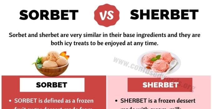 Sorbet vs Sherbet